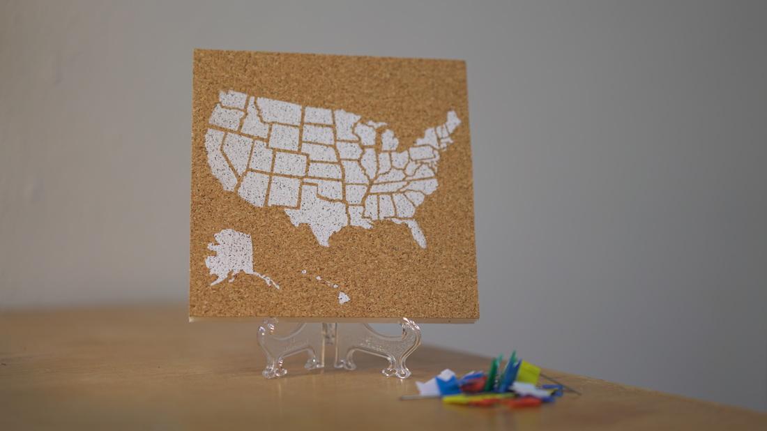 USA Corkboard Map - Corkboard us map