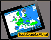 Tracek States Visited and Countries Visited